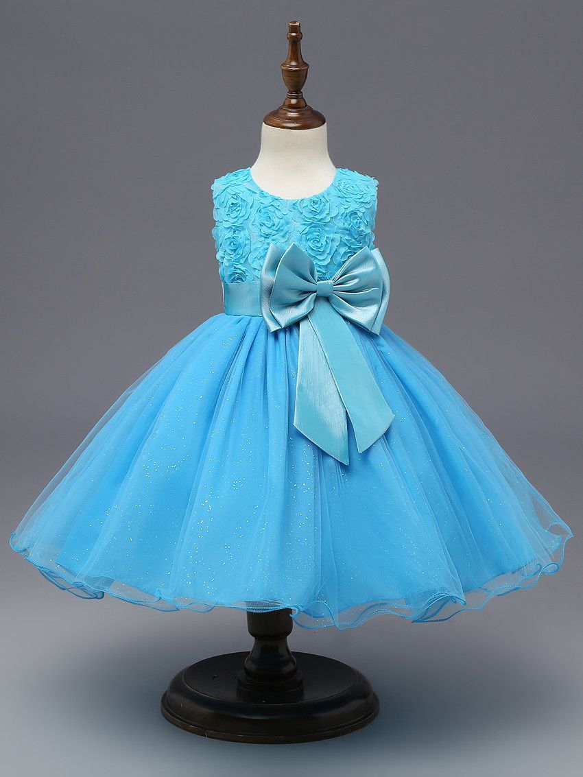 Flower Sequins Princess Toddler Elsa girls Dresses summer 2017 ...