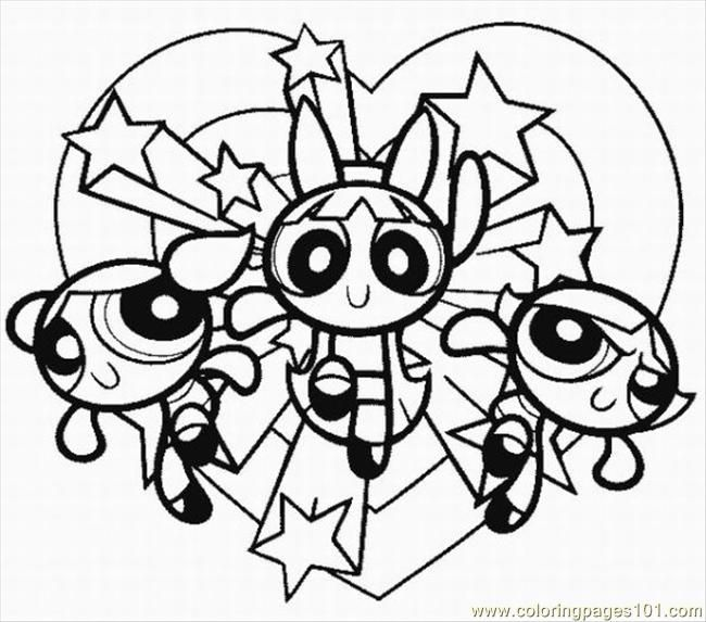 power puff girls coloring # 3