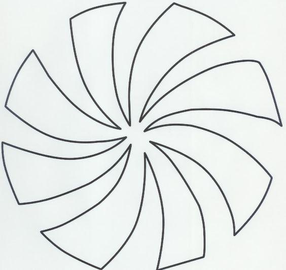 Peppermint Swirl Template Pattern
