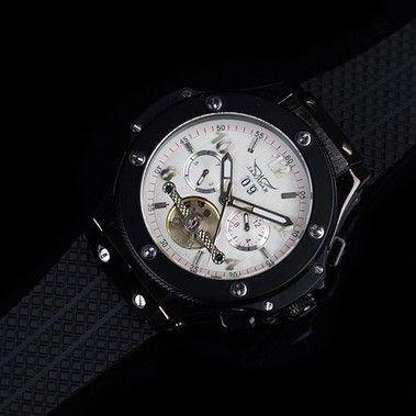 Herrklocka JarAgar - Driver (vit)  jaragar  skeleton  armbandsur  klocka   dbbbe24848a04