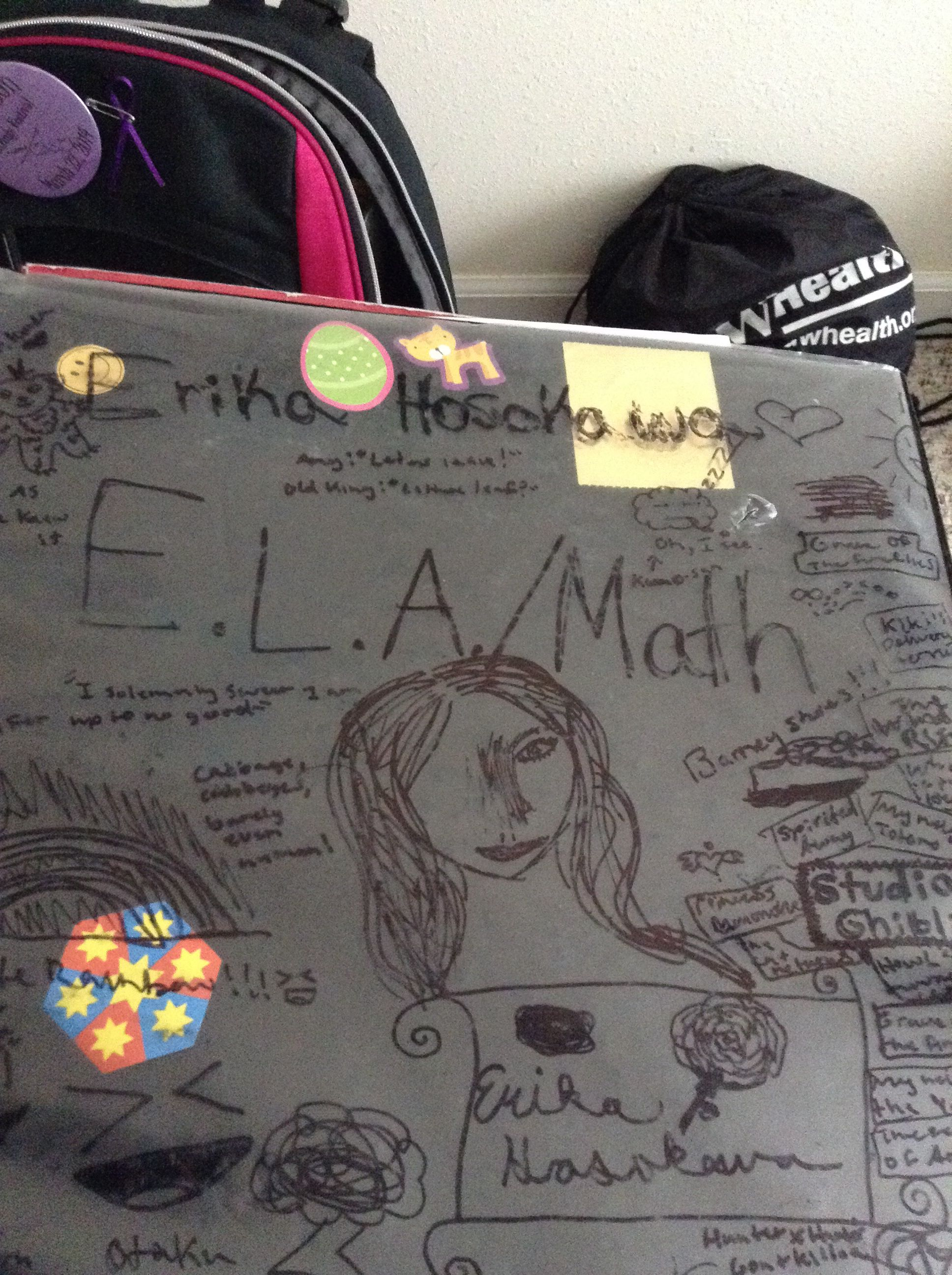 The front of my binder:)