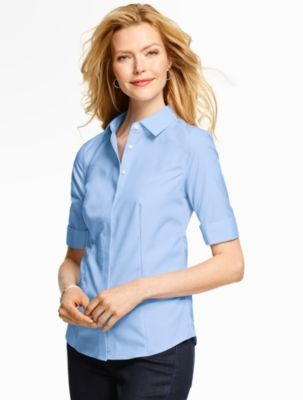 edab6d022 The Perfect Elbow-Sleeve Shirt - End-On-End - Talbots | Courtney's ...