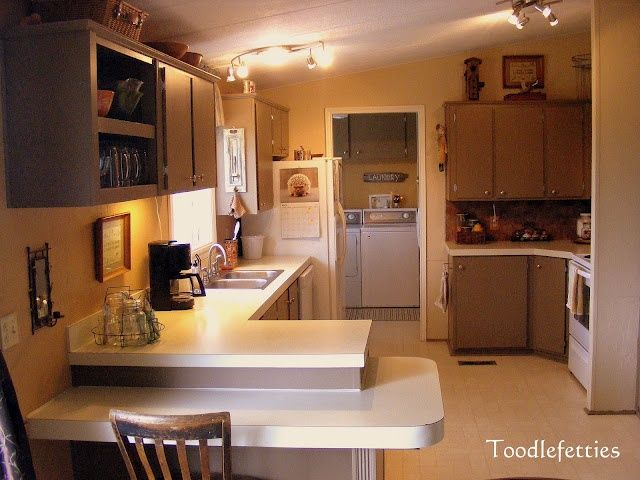 after-kitchen remodel late 80's mobile home | Renovation Ideas and on texas home bar, pulaski home bar, santa fe home bar, lexington home bar, rustic home bar, log home bar,