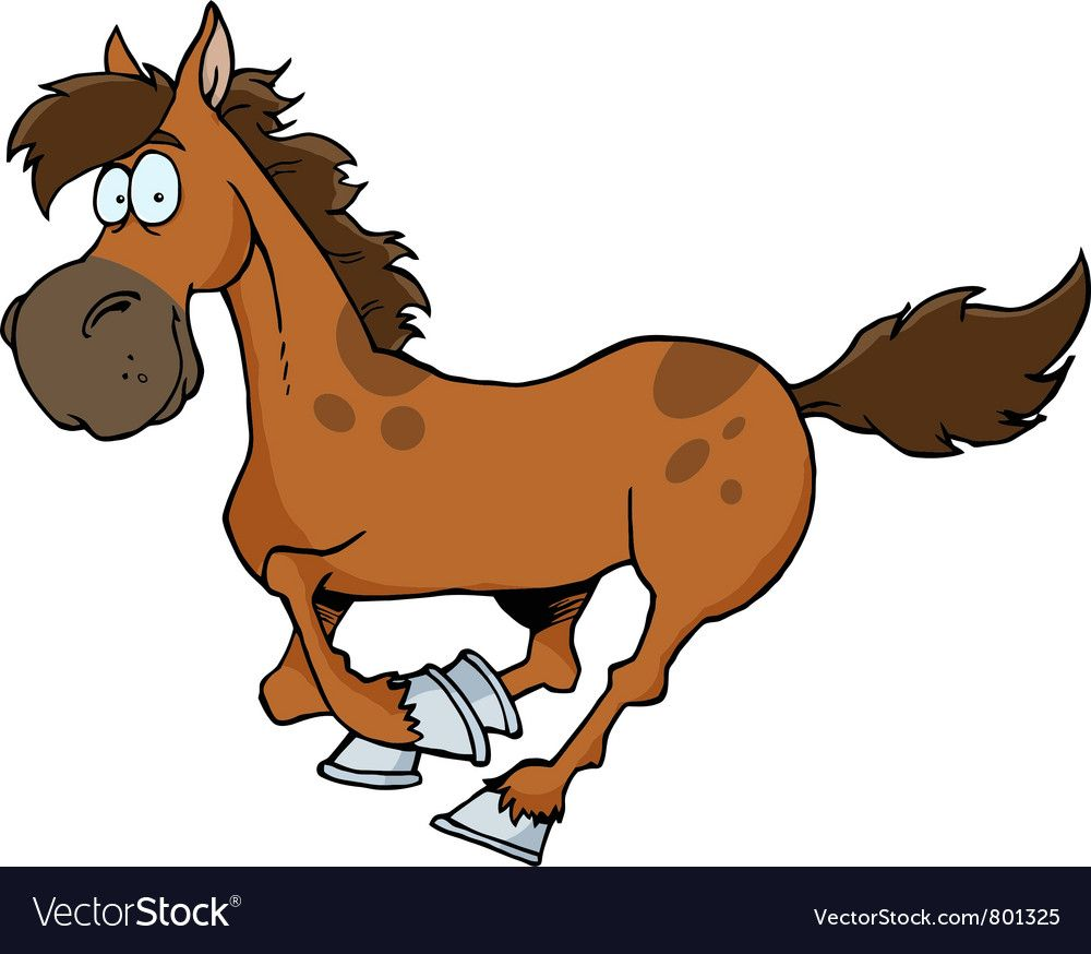Cartoon Horse Running Royalty Free Vector Image Horse Cartoon Funny Paintings Horse Clip Art