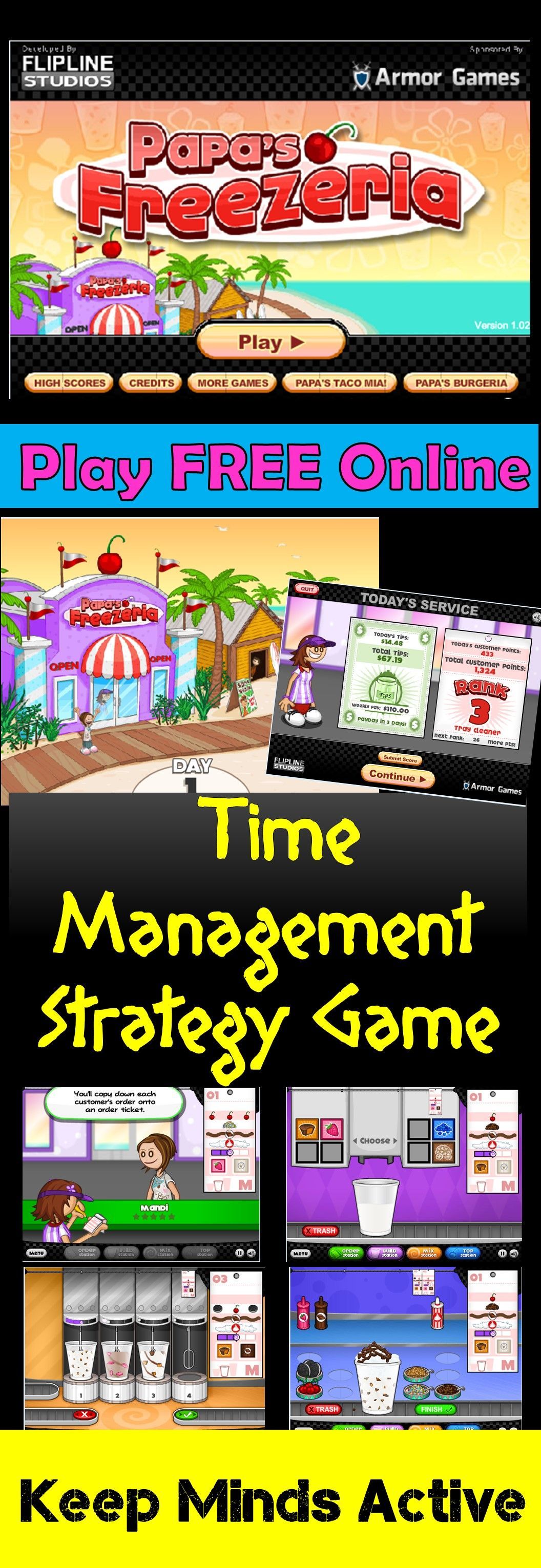 Fun Time Management and Strategy game to keep minds active
