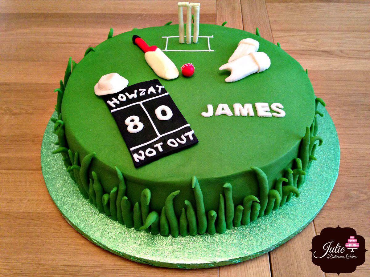 Cricket Cake For An 80th Birthday Order Cake Online For