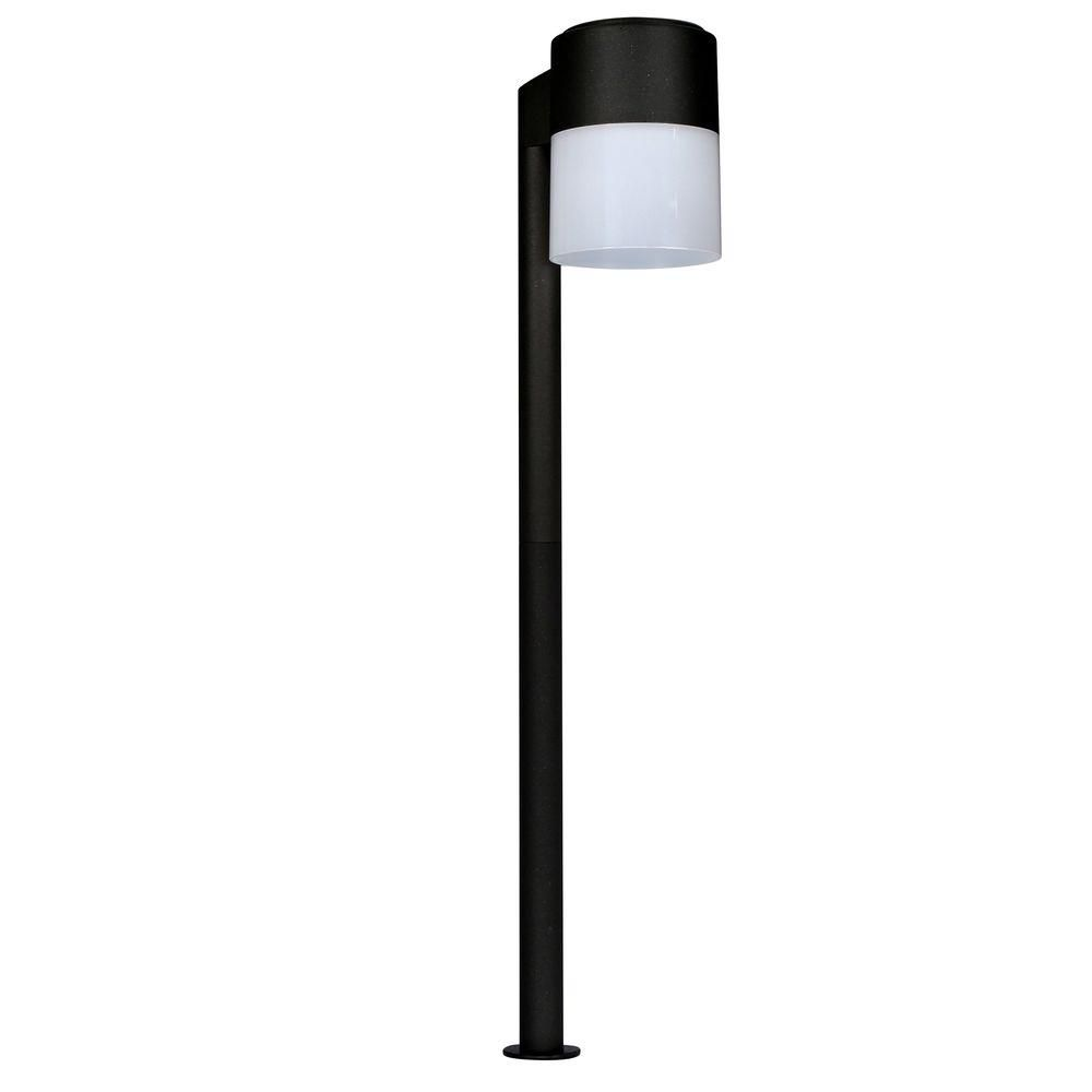 Hampton Bay Pathway Lights Alluring Lowvoltage Black Outdoor Integrated Led Cylinder Path Light  Path Design Ideas