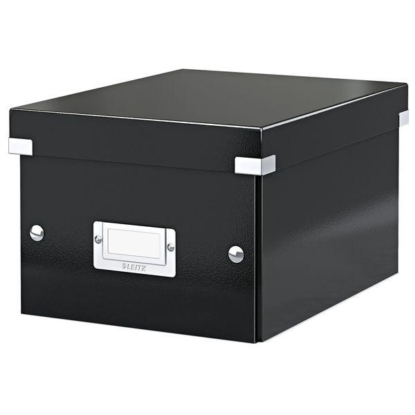 De Leitz 6043 opberg- en transportdoos zwart is geschikt voor A5 documenten zoals foto's, brieven, notities etc.