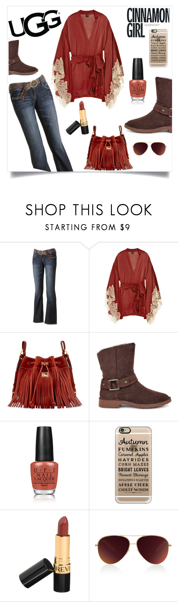 """""""The New Classics With UGG: Contest Entry"""" by im-karla-with-a-k ❤ liked on Polyvore featuring Wallflower, Carine Gilson, Dooney & Bourke, UGG, OPI, Casetify, Revlon, Victoria Beckham and ugg"""