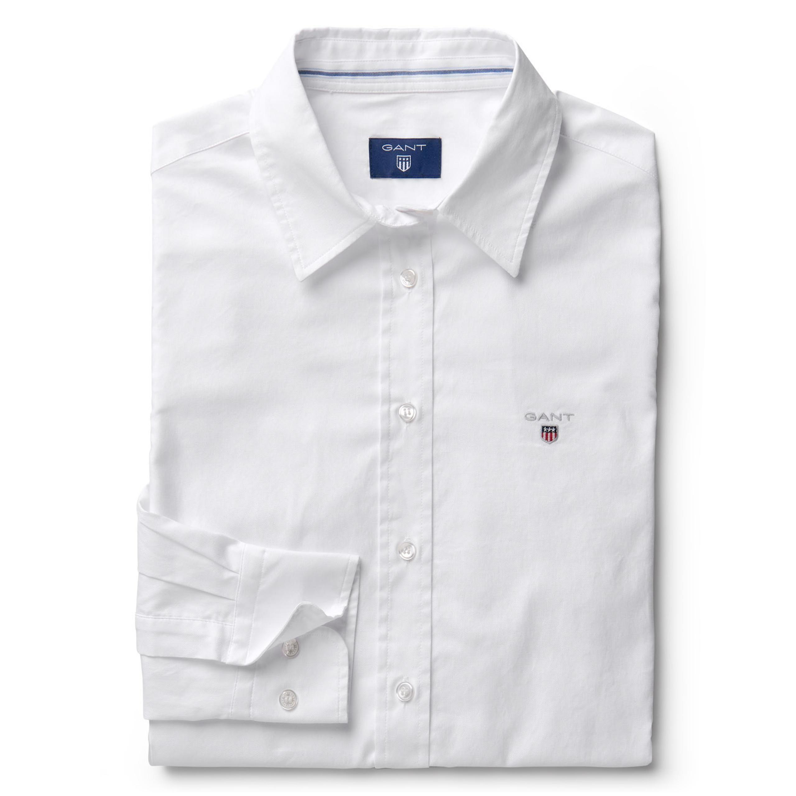 GANT - Extra Slim Stretch Oxford Shirt White for women | Offisiell nettside  Pris 1'000,-