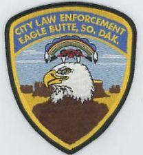 EAGLE BUTTE CITY LAW ENFORCEMENT SOUTH DAKOTA SD NICE COLORFUL POLICE PATCH