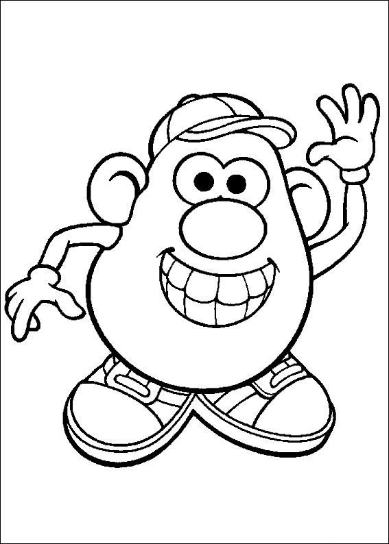 Kids N Fun Coloring Page Mr Potato Head Mr Potato Head Cool Coloring Pages Coloring Pages Love Coloring Pages