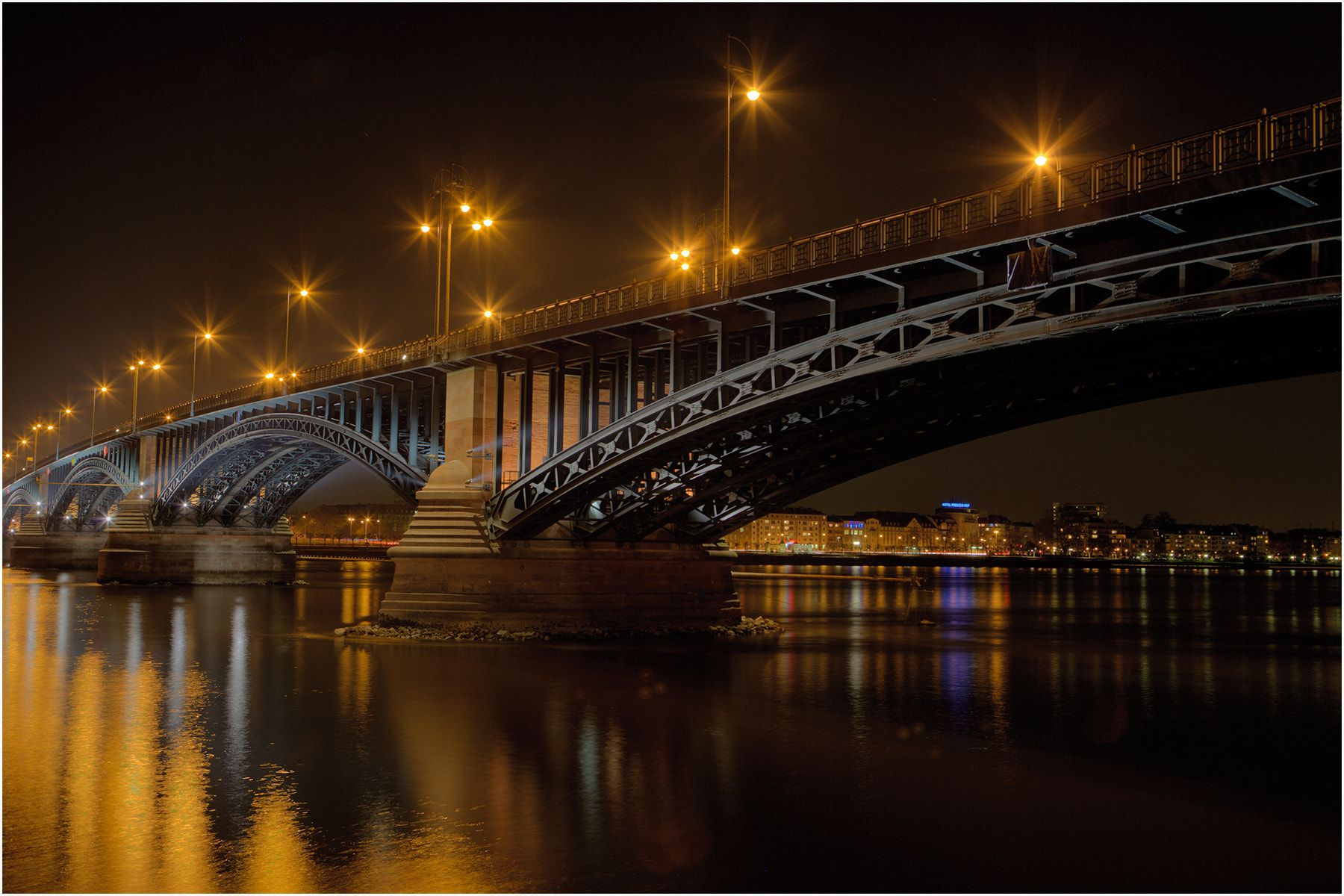 Mainz Theodor Heuss Brucke I Took This Photo On A Business Trip To Mainz After Sunset