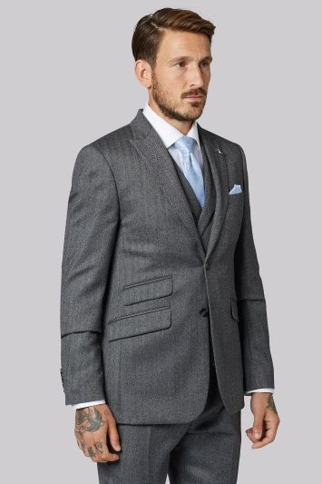 b7cfa2f9849a Ted Baker Tailored Fit Grey Herringbone Suit