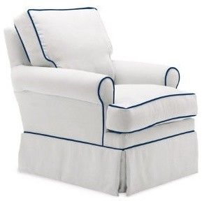 Astonishing Lily Glider Chair Navy Piping Contemporary Rocking Dailytribune Chair Design For Home Dailytribuneorg