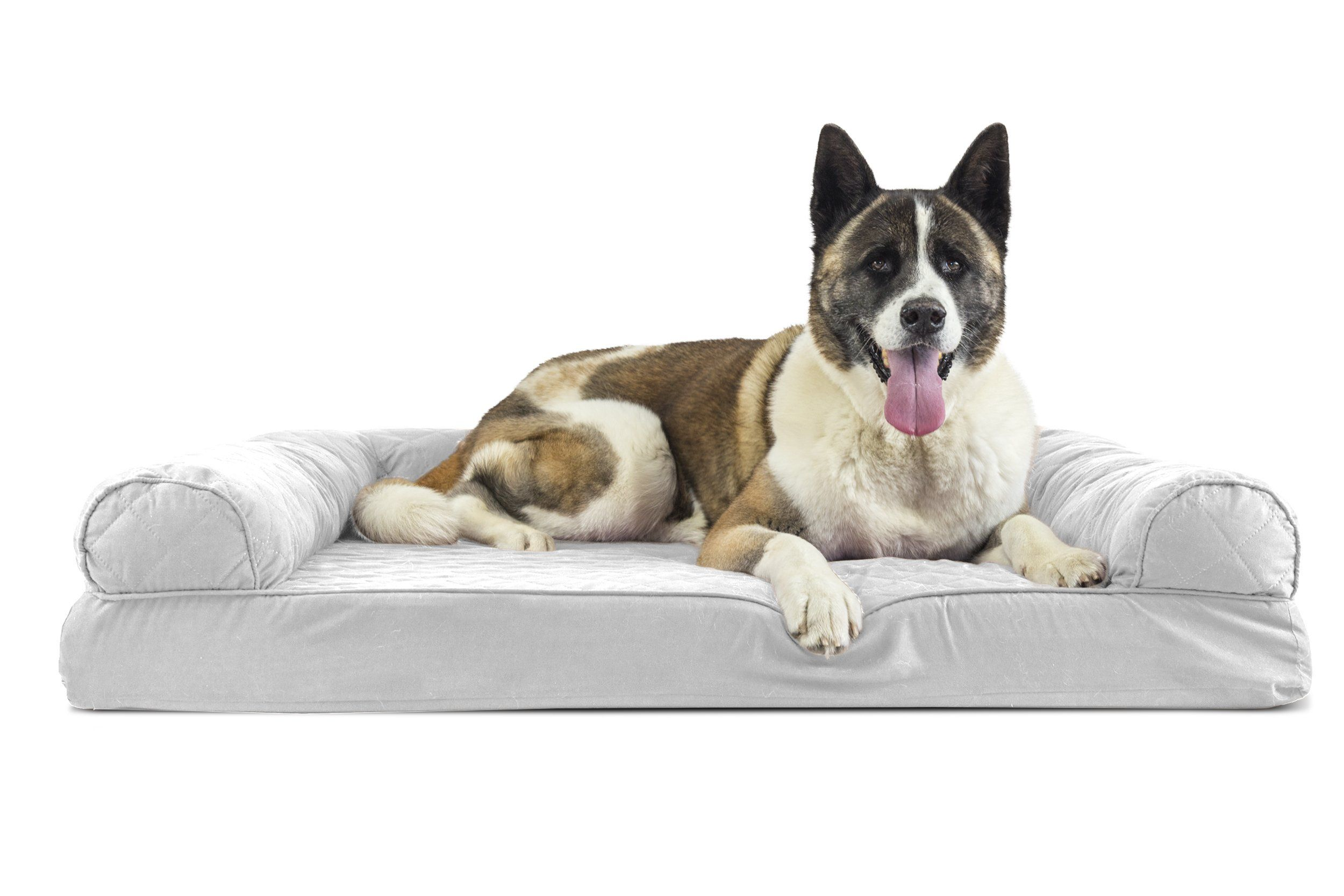 Furhaven Pet Jumbo Quilted Memory Foam Sofa Pet Bed Silver Gray See This Great Product It Is An Affiliate Link To Dog Pet Beds Dog Sofa Bed Dog Bed Large