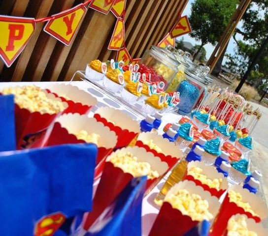 Superman Themed Birthday Party Super Hero Party Ideas Pinterest
