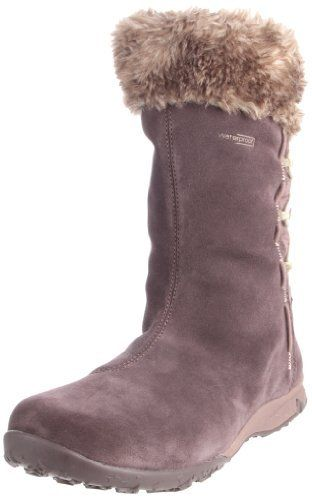 """Salomon Women's Luxy Big Fur Casual Boot                                 Leather and Textile                    Rubber sole                    Shaft measures approximately 9.5"""" from arch                    Heel measures approximately 1""""                    Boot opening measures approximately 12"""" around                    Faux fur collar                    Combination nylon ripstop and split suede upper                    Waterproof"""