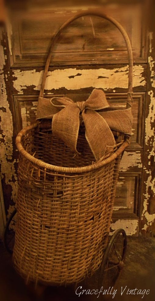 Weathered-Worn & so Rustic Antique French Basket