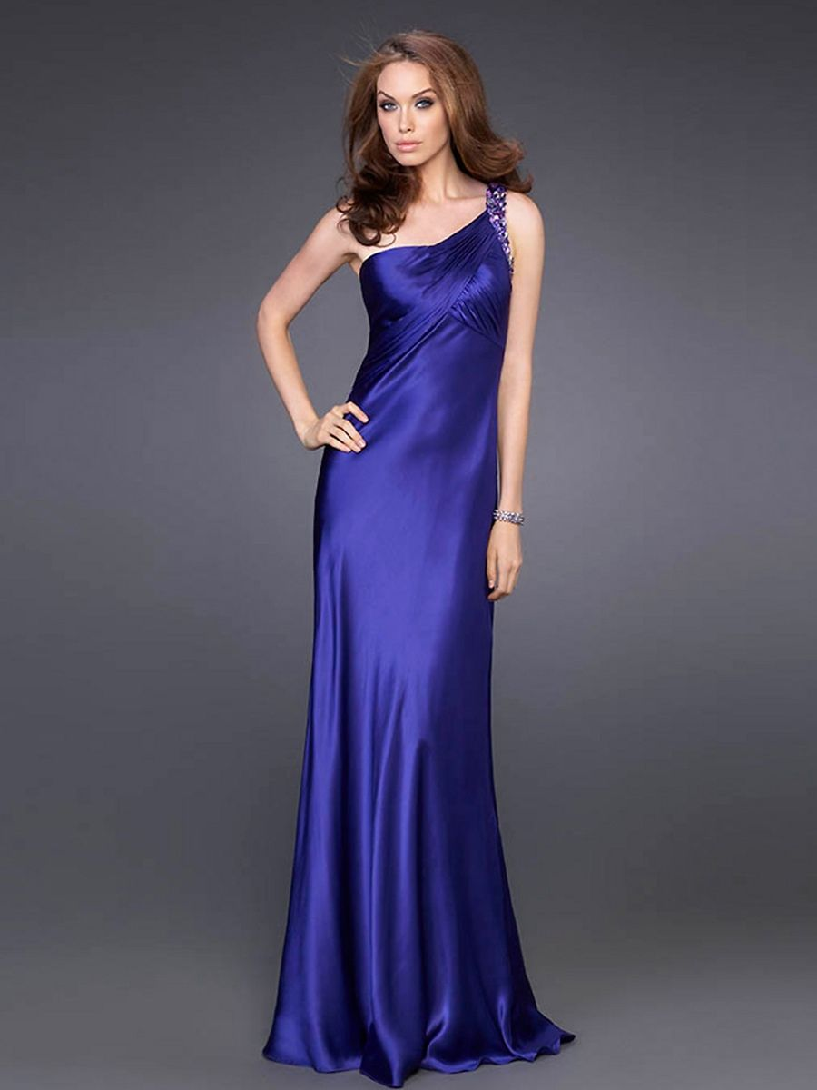 Midnight Blue Satin Dress Blue satin dre midnight | RACHEL\'s dresses ...
