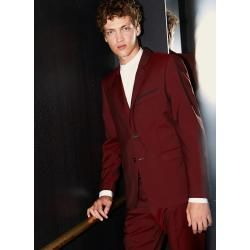 Photo of The Kooples – slim bordeaux wool jacket with lapels – Damenthekooples.com
