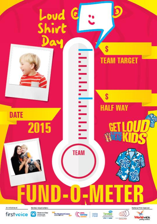 Loud Shirt Day Host Kit Fund O Meter  www.loudshirtday.com.au