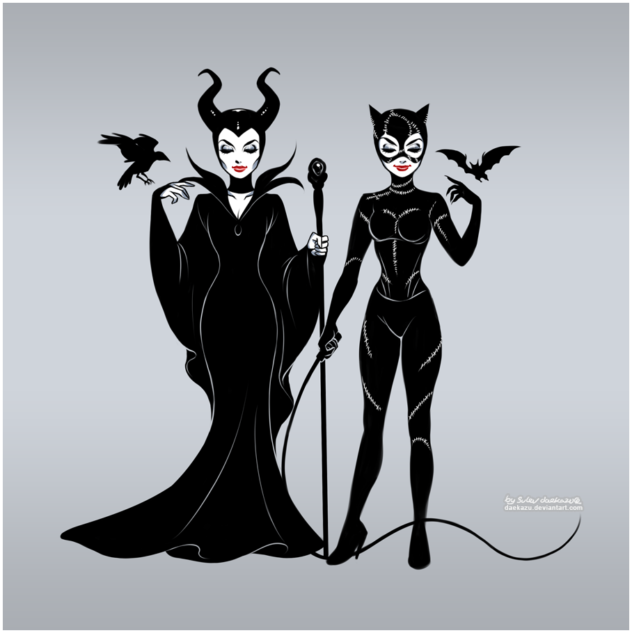 Maleficent and Catwoman