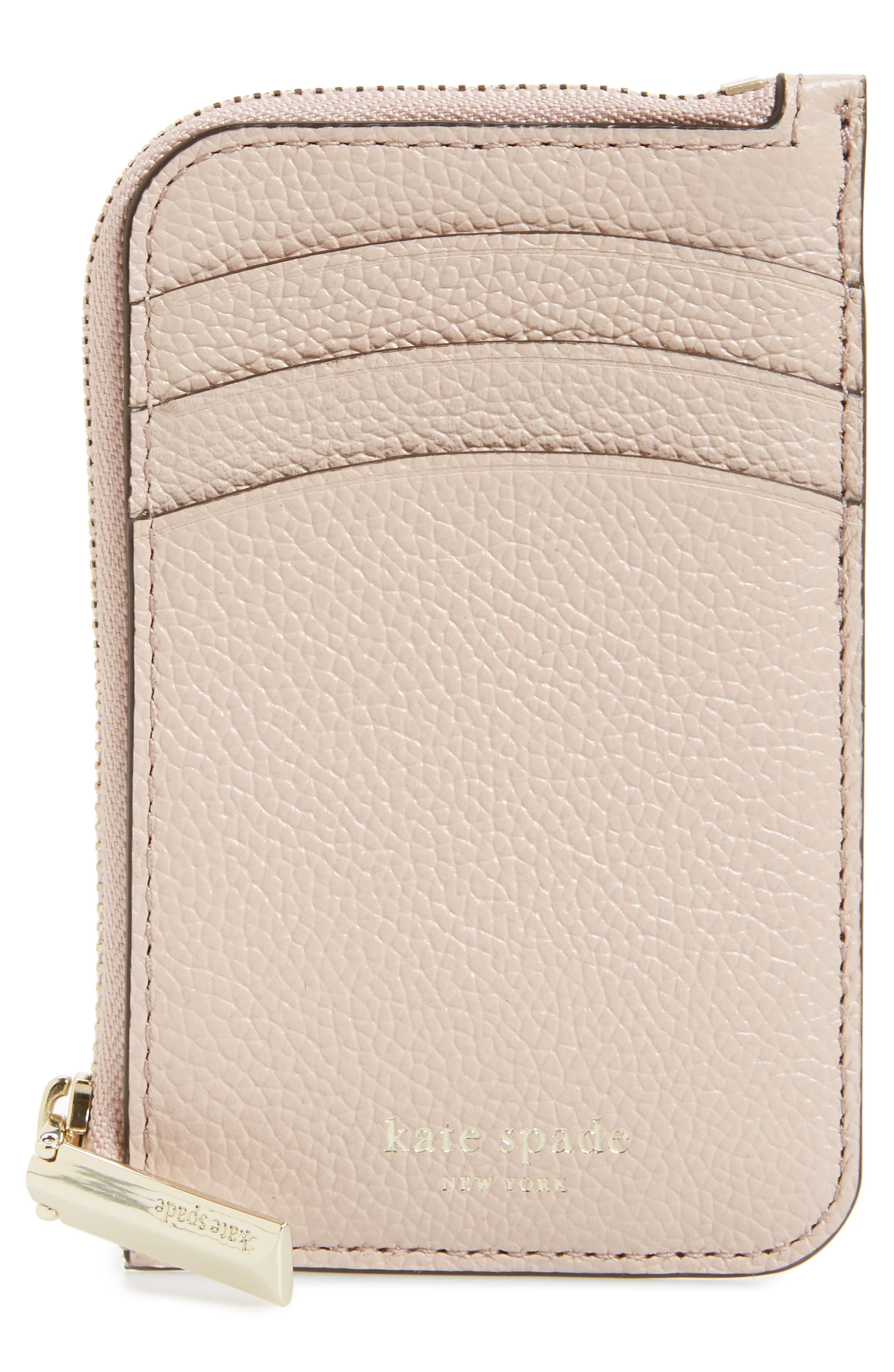 san francisco 8ac72 42e4f Women's Kate Spade New York Margaux Leather Zip Card Holder - Red in ...