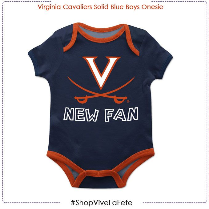 7b4e6f54ff3 Our Virginia Cavaliers Solid Blue Boys Onesie Short Sleeve is the perfect  apparel choice for game day. Cheer for the best team with our Oficially  Collegiate ...