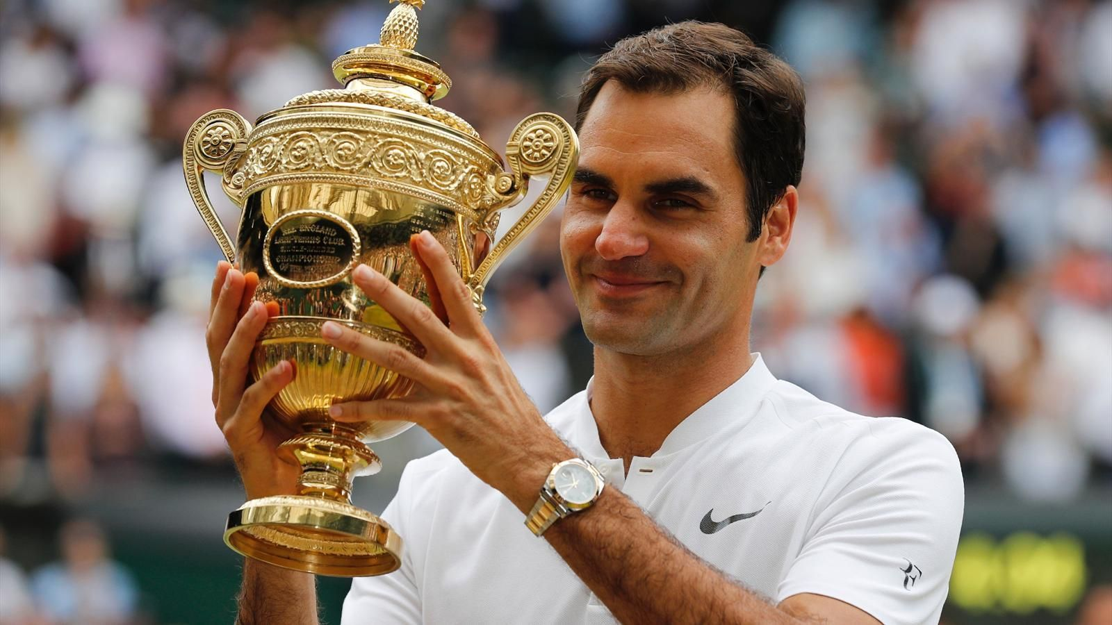 Roger Federer win over Marin Cilic. A record eighth