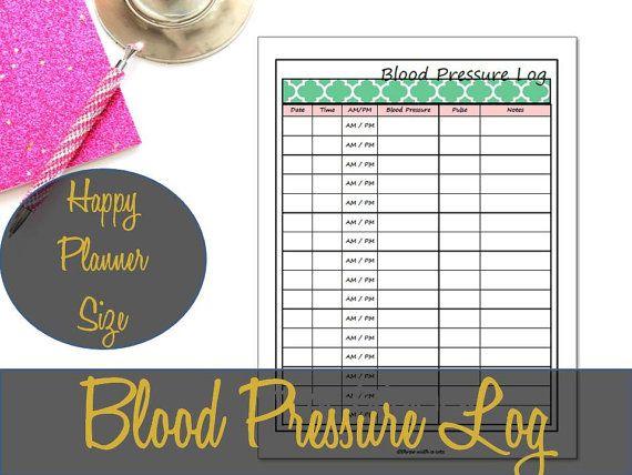 blood pressure printable log