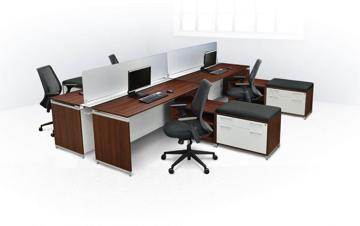 Power up your business with open-concept OneDesk Benching modular ...