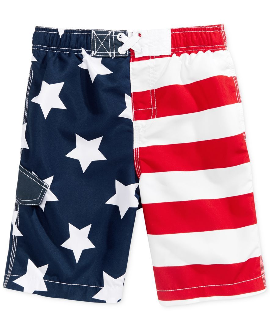 19c732c5f0a Kanu Surf Stars & Stripes Swim Trunks, Toddler & Little Boys (2T-7 ...