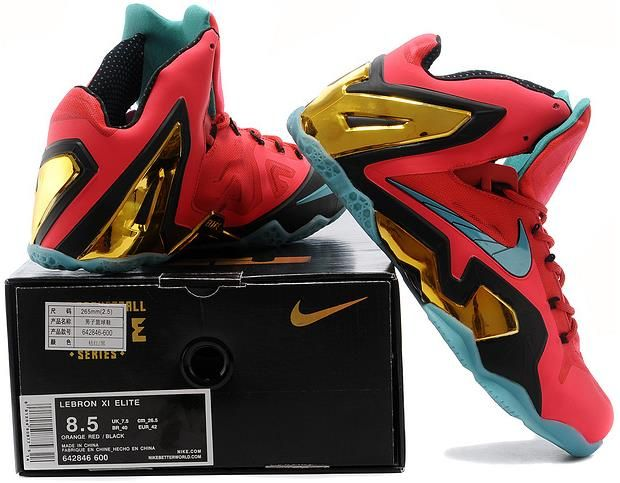 separation shoes e9302 e1516 Lebron 11 Elite Red Golden Black Yellow4 | Lebron 11 Mens For sale ...