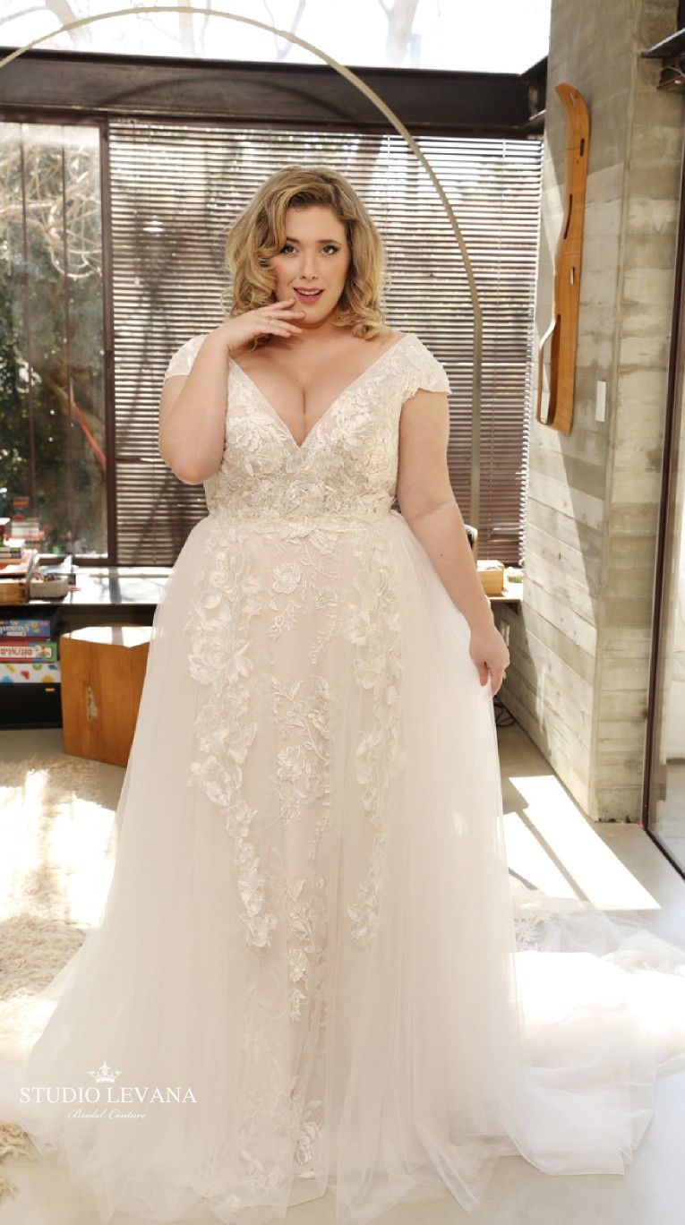 0b283aaa66a Lace blush mermaid wedding gown with tulle second skirt. Lana. Studio Levana