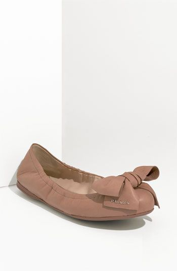 eb640f0cbaa Prada Bow Ballerina Flat available at  Nordstrom The more I look at these -  the cuter they become to me...  D