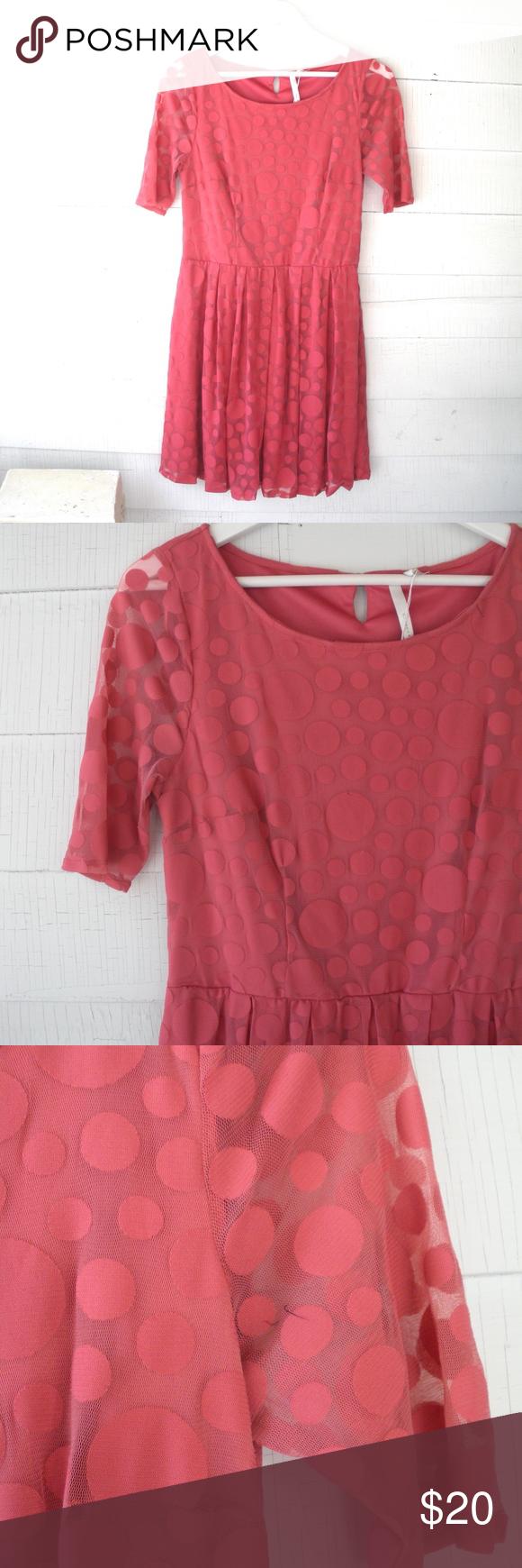 Lauren Conrad Sheer Polka Dot Tea Dress 8 10 M L Super cute, size M ...