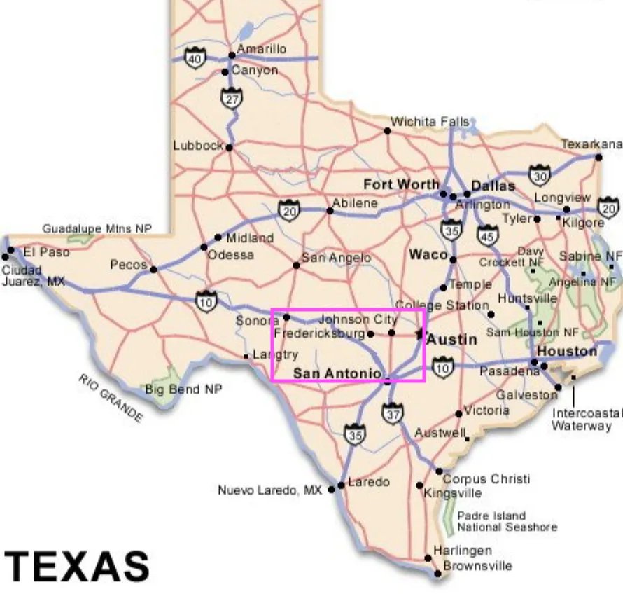 Texas Hill Country Play Stay Eat In 2020 Texas Hill Country Texas Travel Guide Texas Map