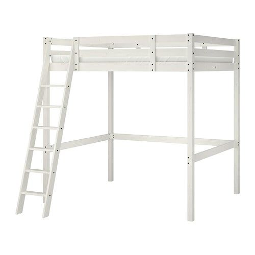 Stora Loft Bed Frame White Stain 140 X 200 Cm In 2018 Ky S Bedroom