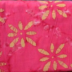 Pink Flower Batik ($7.36/yard)