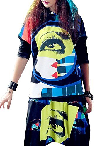 ELLAZHU Women Fashion Long Sleeves Hippie Abstract Eye Hoodie Onesize GK212 >>> Read more reviews of the product by visiting the link on the image.