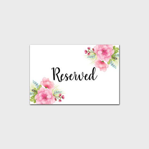 Reserved Printable Art Print Peony Wedding Table Sign Reception Tabletop Event