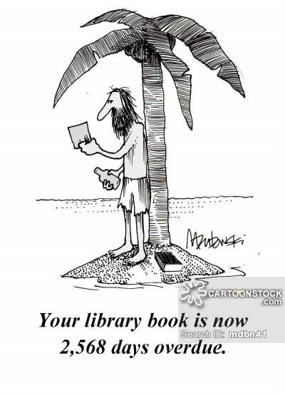 Image result for library fines cartoon