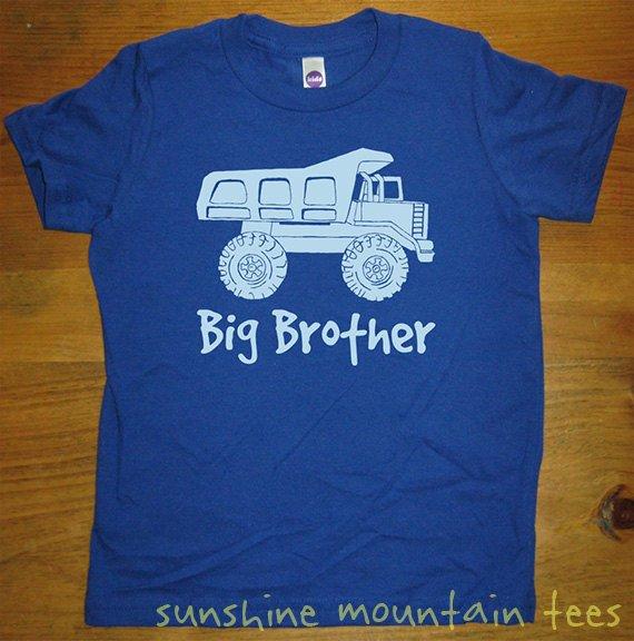 1e0d5dc10 Big Brother Dump Truck Shirt - Kids Big Brother T Shirt - 5 Colors - Kids  Big Brother T shirt Sizes