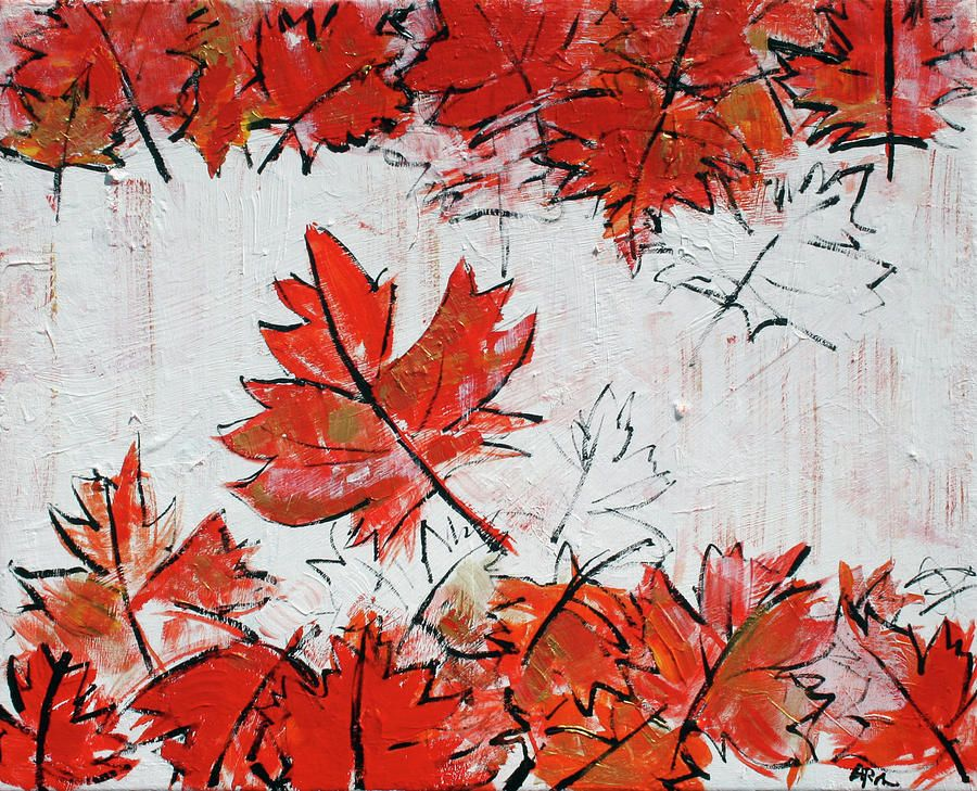 Canadian Flag 201671 Painting by Alyse Radenovic