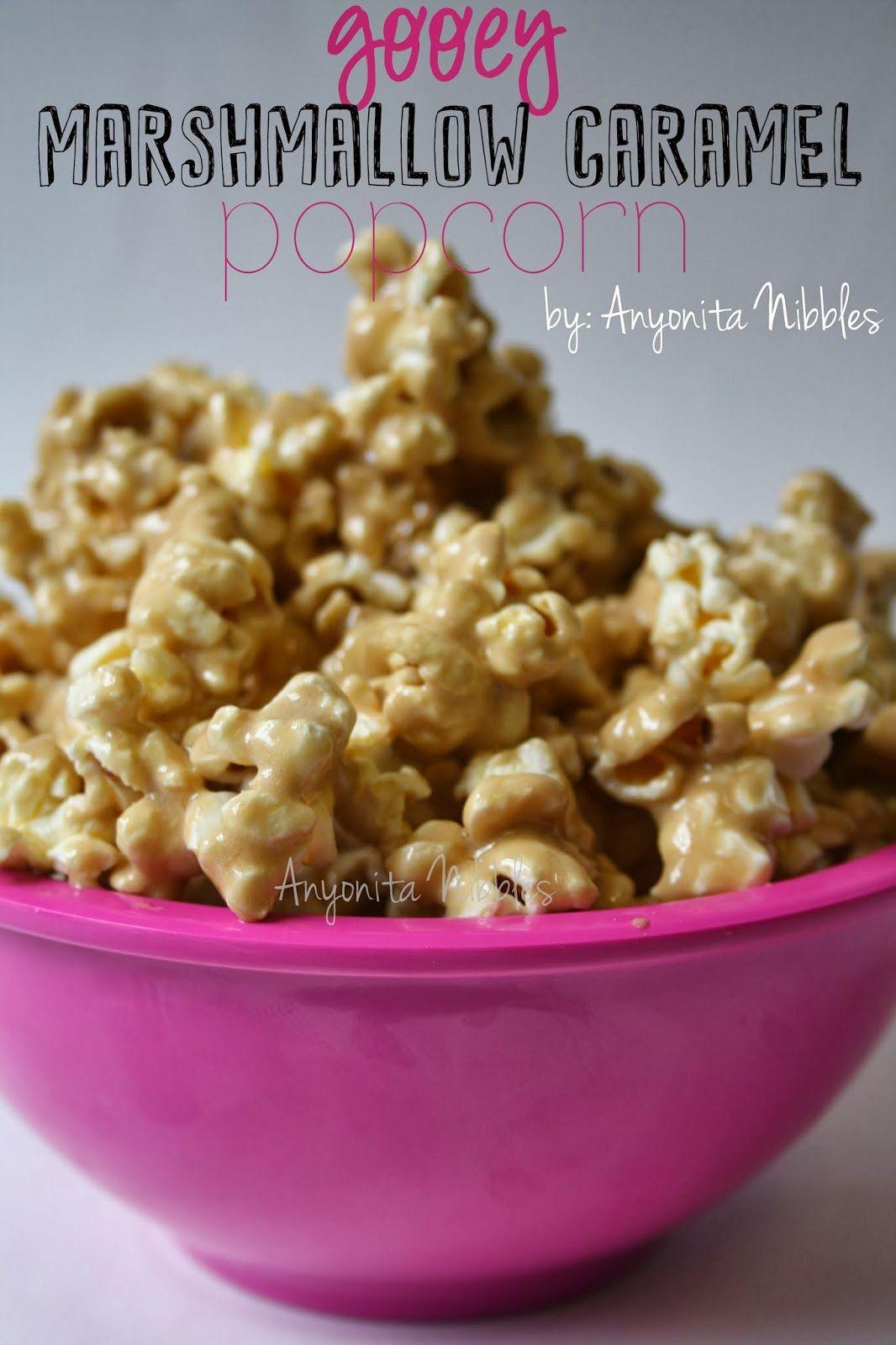 Gooey Marshmallow Caramel Popcorn from Anyonita Nibbles