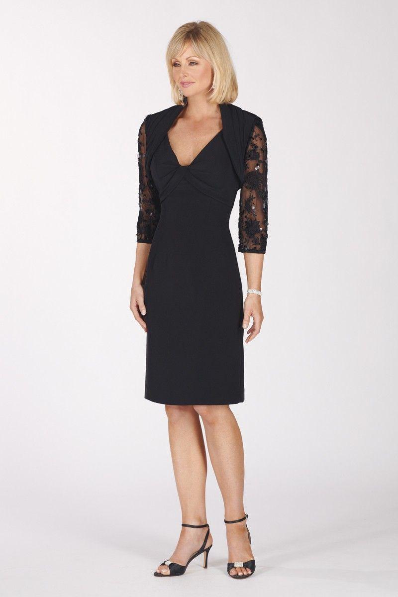 Mothers dresses for a wedding  Elegant Knee Length Sleeveless Evening Dress with Elbow Length Soft