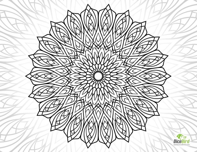 Hope flower http://dicebird.com/hope-mandala-flower-free-color-pages-for-adults/