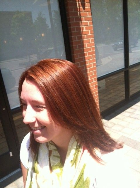 Festive and warm red by Laura at Posh the Salon