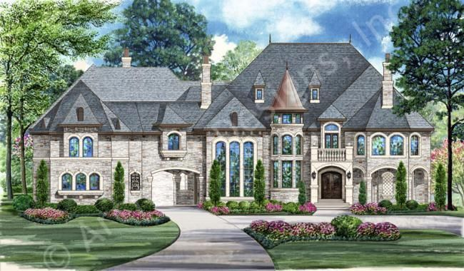 Luxury Style House Plans   12268 Square Foot Home, 3 Story, 5 Bedroom And 6  3 Bath, 5 Garage Stalls By Monster House Plans   Plan Part 43